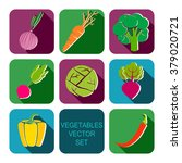 vegetables icon flat set with... | Shutterstock .eps vector #379020721
