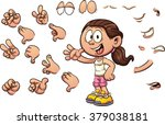 cartoon girl with different... | Shutterstock .eps vector #379038181