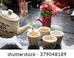 chinese tea time | Shutterstock . vector #379048189