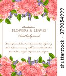romantic invitation. wedding ... | Shutterstock .eps vector #379054999