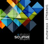 glossy color squares on black.... | Shutterstock .eps vector #379064641