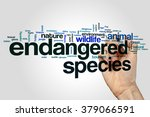 Small photo of Endangered species word cloud