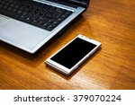 close up of the mobile phone... | Shutterstock . vector #379070224