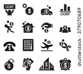business cost icon set | Shutterstock .eps vector #379070689