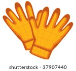 illustration of gloves on white   Shutterstock .eps vector #37907440