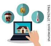 smart home design  | Shutterstock .eps vector #379074961