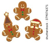Three Gingerbread Man Cookie...