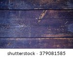 Indigo Blue Wooden Old Planks...