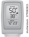 outdoor thermometer and...   Shutterstock .eps vector #379082821