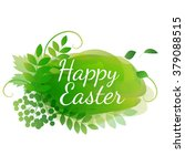 watercolor easter decoration | Shutterstock .eps vector #379088515