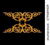 ornament elements  vintage gold ... | Shutterstock . vector #379089409