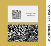 business card  zentangle...   Shutterstock .eps vector #379102309