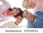 below view of family looking at ... | Shutterstock . vector #37910923