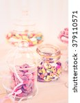 multicolored candies in glass... | Shutterstock . vector #379110571