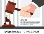 the punishment for the defendant   Shutterstock .eps vector #379116925