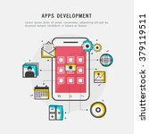 apps development concept with... | Shutterstock .eps vector #379119511