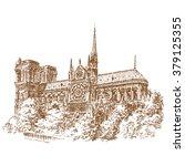 france  paris  the architecture ... | Shutterstock .eps vector #379125355