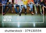 social media connection... | Shutterstock . vector #379130554