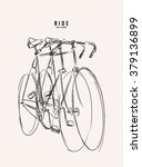 bike sketch illustration  | Shutterstock .eps vector #379136899