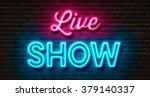 neon sign on a brick wall  ... | Shutterstock . vector #379140337