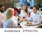portrait of relaxed adults... | Shutterstock . vector #379141741