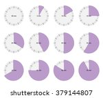 stopwatch icon vector watch set ... | Shutterstock .eps vector #379144807