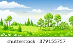 summer landscape with trees | Shutterstock .eps vector #379155757