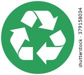 single round green recycling... | Shutterstock .eps vector #379158034