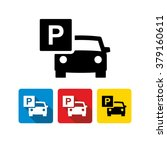 car parking icon  | Shutterstock .eps vector #379160611