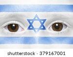 Human's Face With Israeli Flag