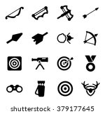 archery icons | Shutterstock .eps vector #379177645