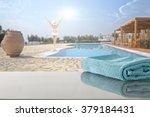 summer resort and towel  | Shutterstock . vector #379184431