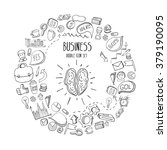 business doodles icons set.... | Shutterstock .eps vector #379190095