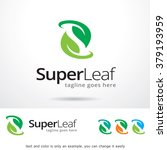 super leaf  letter s logo... | Shutterstock .eps vector #379193959