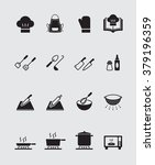 cooking icons set | Shutterstock .eps vector #379196359