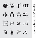 business icons set | Shutterstock .eps vector #379196539