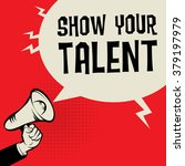 megaphone hand  business... | Shutterstock .eps vector #379197979