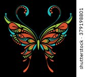 Patterned Colored Butterfly....