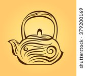 teapot with ornaments | Shutterstock .eps vector #379200169