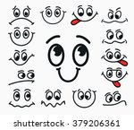 cartoon facial expression of... | Shutterstock .eps vector #379206361