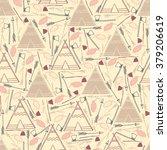wigwam pattern | Shutterstock .eps vector #379206619
