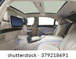 Stock photo car interior luxury interior of prestige modern car leather comfortable seats multimedia 379218691