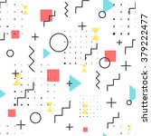 hipster pattern abstract retro... | Shutterstock .eps vector #379222477