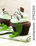 Creme De Mint Gourmet Cupcake