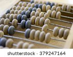 wooden abacus  focus in the... | Shutterstock . vector #379247164