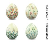 a set of four easter eggs with... | Shutterstock .eps vector #379254541