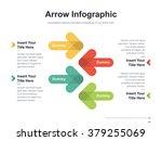 Flat business presentation vector slide template with arrow diagram | Shutterstock vector #379255069