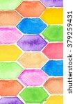 water color of hexagon beehive... | Shutterstock . vector #379259431