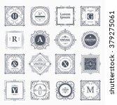 monogram luxury logo template... | Shutterstock .eps vector #379275061
