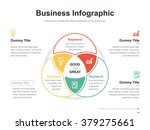 Flat business presentation vector slide template with venn diagram | Shutterstock vector #379275661